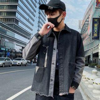 Men Korean Fashion Denim Popular Youth Style Leisure Jacket