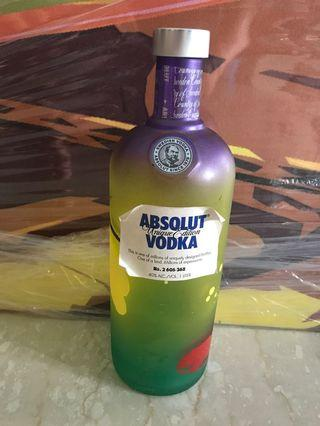 Limited edition Absolut vodka empty bottle