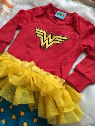 長袖嬰兒包腳夾衣Wonder Woman 6-9M