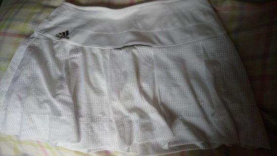 正版Adidas tennis skirt女裝白色網球裙褲