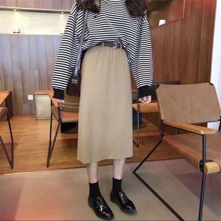 🚚 ✨新品現貨✨春夏薄款針織鬆緊長裙