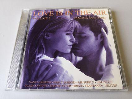 Love Is In The Air Volume 2 song CD.