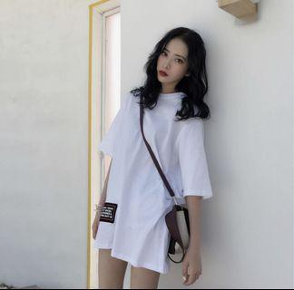 Instock White Oversize Shirt Dress