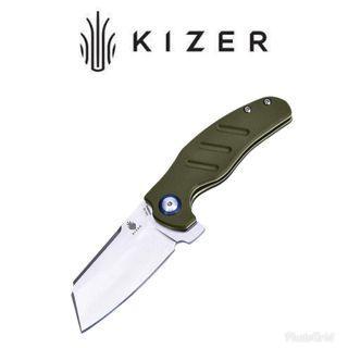 Kizer Sheepdog Mini C01C Folding Knife_Green Handle_Model no: V3488A2