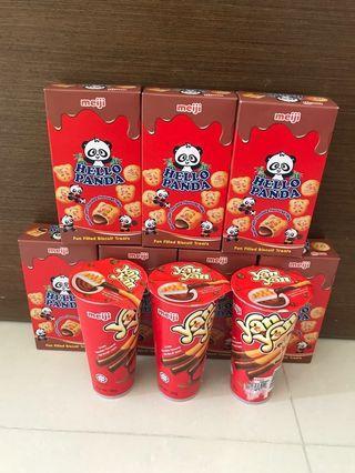 $4 for All (7Hello Panda & 3Yan Yan) - BN Hello Panda Meiji & Yan Yan Meiji