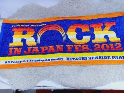 2012 japan rock festival towel