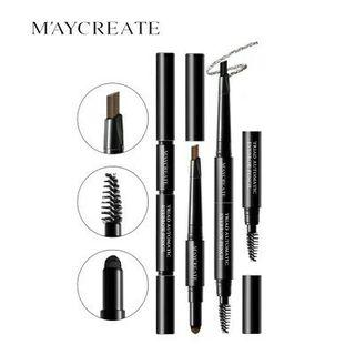 🚚 MAYCREATE 3 in 1 Waterproof Eyebrow Pencil