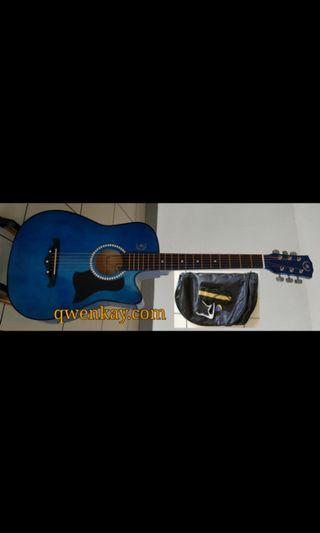 A&K Acoustic Guitar 38Inch #010 Blue