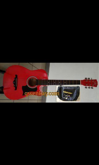 A&K Acoustic Guitar 38Inch #010 Red