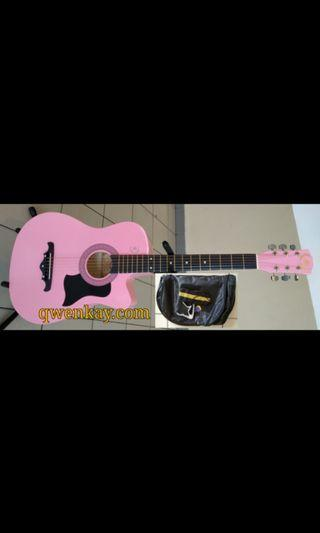 A&K Acoustic Guitar 38Inch #010 Pink