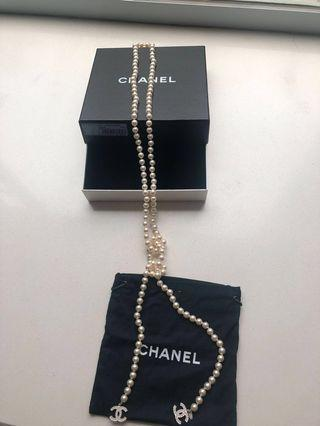Chanel multiple pearl lace