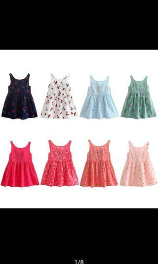 Sweet Pattern cotton Dress