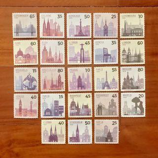 Travel Europe Stamp Stickers