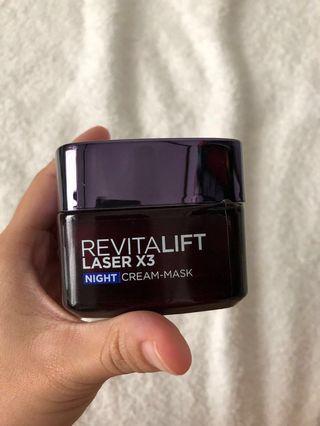 L'oreal Paris Revitalift Laser X3 Night Cream-Mask 50ml