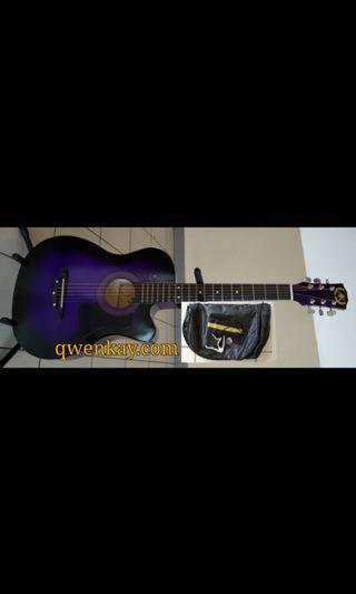 A&K Acoustic Guitar 38Inch #010 Purple