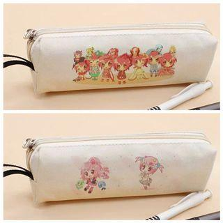 Shugo Chara! Minimalist White Canvas Pencil Case Holder