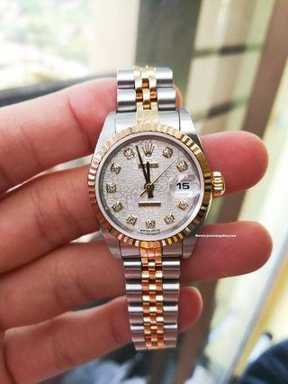 100% Authentic ROLEX 26mm Lady 79173 Diamonds Computer Dial Automatic