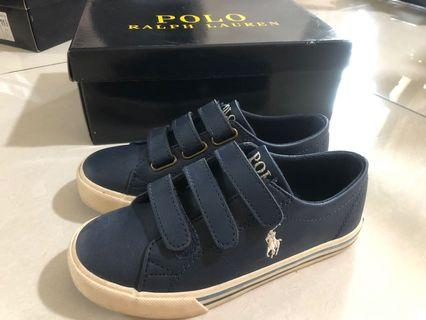 Kid leather boat shoe