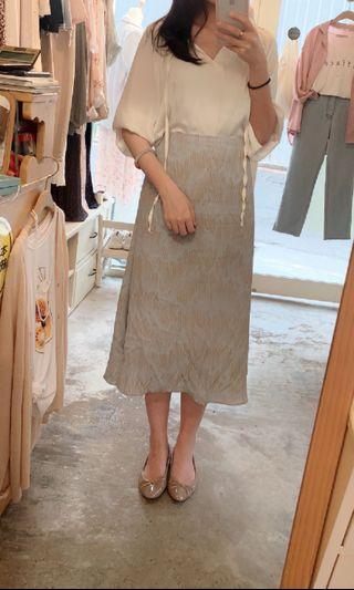 🚚 正韓 超美水波紋路 半身裙