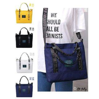 0915/L6*J 💥SK💥 现货📢 买一送一🎉 时尚大容量帆布包 ✔️ 可手提 ✔️ 可斜挎.