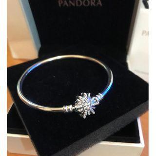 原價$899 PANDORA 雪花 Bracelet 17.5cm Bangle
