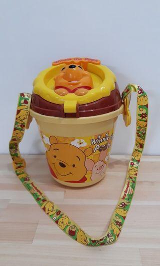 🚚 日本帶回 迪士尼小熊維尼爆米花桶