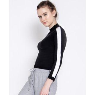COLORBOX - HIGHNECK SWEATER WITH LINES