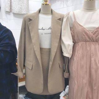 正韓 超美細格子西裝外套
