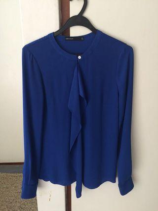Karen Millen royal blue blouse