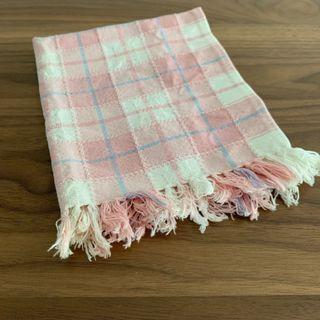 Pink with Tassel Checkered Cotton Multipurpose Dining Placemat 1 Pc @sunwalker
