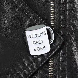 🚚 [BUY 3 FREE 1] world's best boss enamel pin mug