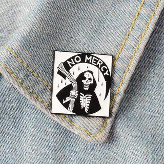 🚚 [BUY 3 FREE 1] no mercy skeleton enamel pin
