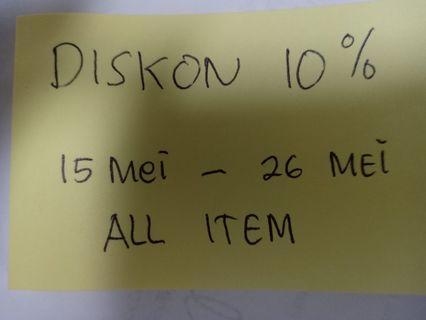 Diskon 10% all atem