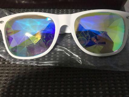 Rave festival edm party prism kaleidoscope Sunglasses