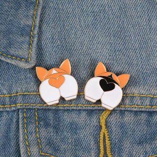 🚚 [BUY 3 FREE 1] cute corgi butt enamel pin heart