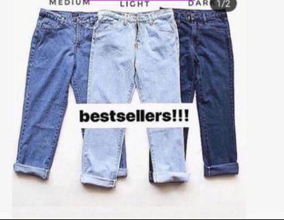 Boyfriend jeans (medium colour)