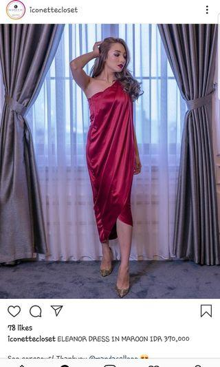 Eleanor maroon dress greek style