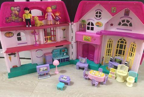 Doll house toy set