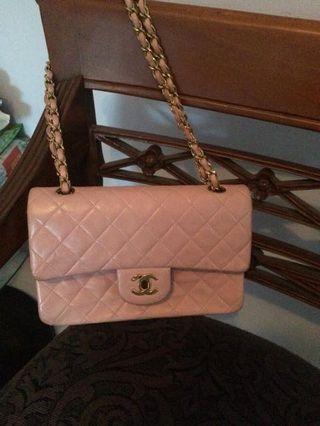 Pink classic Chanel flap bag