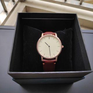 Aries Gold Brown Leather Analog Watch