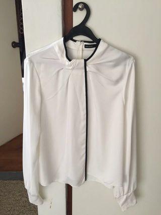 White Karen Millen Satin blouse