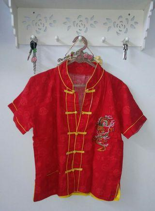 Setelan baju imlek anak cowok