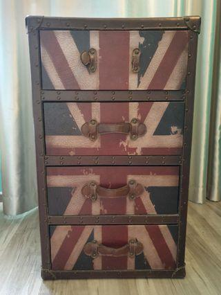🚚 Vintage Union Jack Chest of Drawers