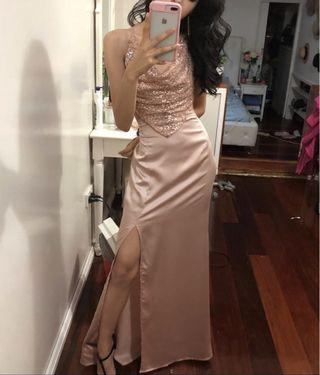 Pink Sequence Formal Dress