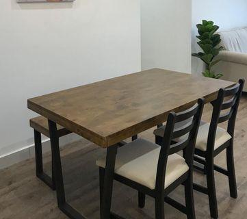 Loft industrial dining table (exclude chair)