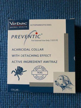【現貨】 包郵!全新 Virbac PREVENTIC Acaricidal Collar kills and ticks 維克 狗用牛蜱帶 殺蚤帶 毛囊蟲 / Dog - 實物圖