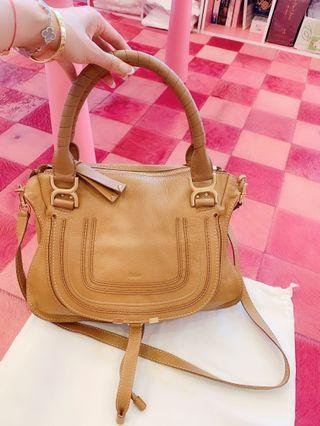 「香港海港城專櫃購入」chloe satchel tote bag大地色