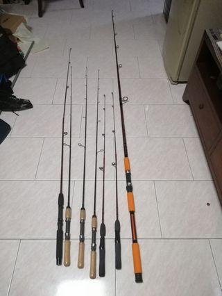 Some fashing rods