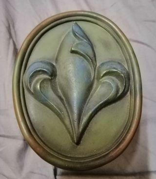 A vintage solid brass jewellery box.