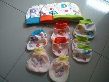 Topi sarung tngn,kaki bayi libby